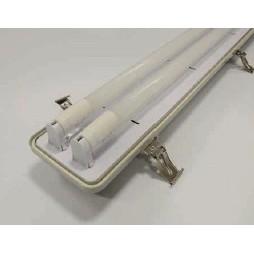 PABS LED-T 206 2xT8 IP65 (600mm) INOX békazár
